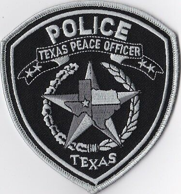 Texas Peace Officer Police Patch Texas TX