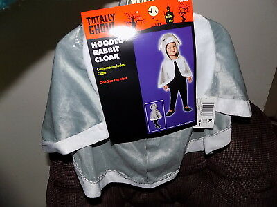 Halloween Costume Totally Ghoul Hooded Rabbit Cloak Cape OSFM Toddler/Child  NWT