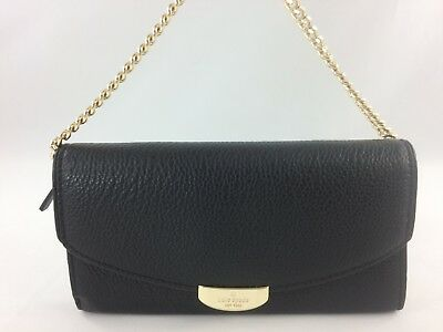 a6a631771fc1b New Authentic Kate Spade Milou Mulberry Street Wallet in Black Pebble  Leather