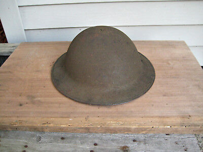 Very Nice WW 1 U.S. Doughboy Helmet with Liner & Chin Strap, Antique Military