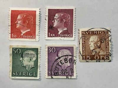 Vintage Old Sverige Sweden Swedish Post Postage Stamp Lot A