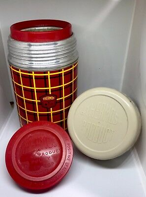 Vintage Plaid Thermos Wide Mouth Bottle Model 5254