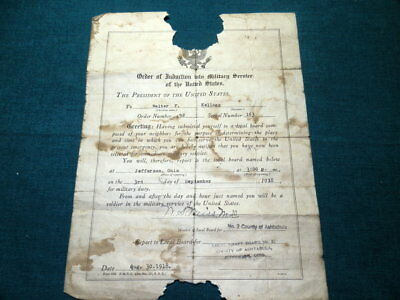 #984,Order of Induction into Military Service US,1918 WWI