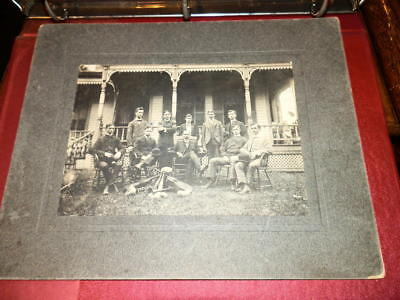 #7395,Ganges Band,Ganges OH Richland Cty 1901,Cabinet Photo,