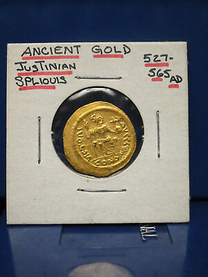 Ancient Byzantine Justinian Solidus Gold Coin. 527-565 A.d. !