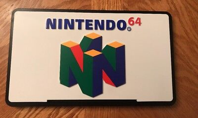 NINTENDO 64 Display Sign Store Double Sided OFFICIAL NINTENDO SIGN