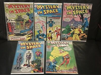 MYSTERY IN SPACE lot of 5 books 88, 96, 98, 99, and 102 Adam Strange Hawkman