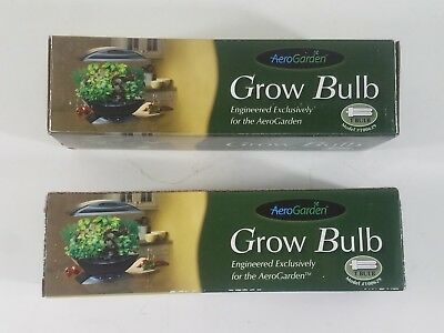 AeroGarden GROW BULB Replacement Light Model 100629 Genuine OEM Lot Of 2