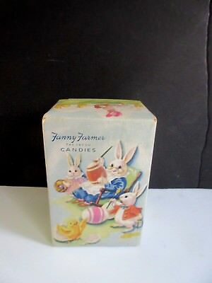 Vtg 1950's Easter Candy Box Fanny Farmer Wonderful Easter Graphics VERY NICE!