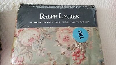 Ralph Lauren Charlotte Full Fitted Sheet NIP Vintage