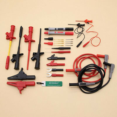 26Pcs Test Lead Kit Electronic Multimeter Tester Leads Probe 4mm Banana Plug