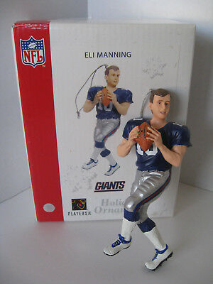 Eli Manning Keepsake Ornament In Box NFL Giants NY Forever Collectibles Holiday