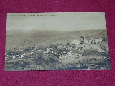 Original Circa 1910's Miami, Arizona Mining Postcard