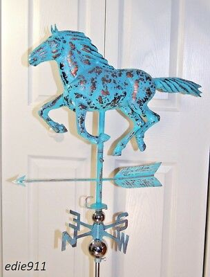 LARGE 3D Running HORSE Weathervane AGED COPPER HANDCRAFTED PATINA FINISH- NEW