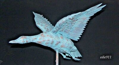 NEW MALLARD DUCK Functional Weathervane AGED COPPER FINISH 3D FULL BODIED