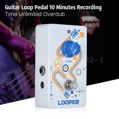 High Quality Aluminum Alloy LOOPER Guitar Loop Effect Pedal Low Noise Level Q5F8