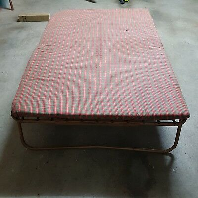 Folding Camp Bed and Mattress (Double Bed Size)
