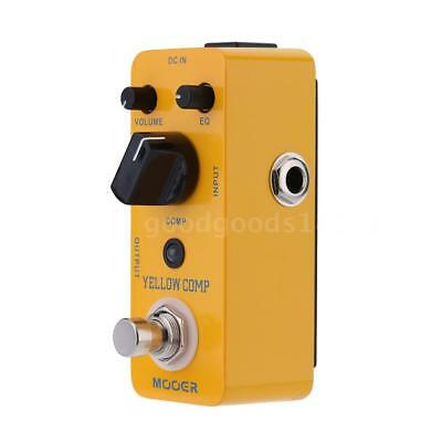 Mooer Yellow Comp Micro Mini Optical Compressor Effect Pedal for Electric Guitar