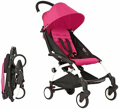 BabyZen Yoyo+ 2016 Complete Stroller 6+ White Frame with Pink Color Pack