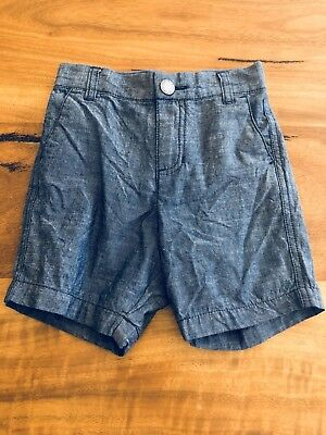 Counrty Road Baby Boy Linen Shorts