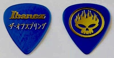 The Offspring Guitar Pick Signature Bright Blue Ibanez Japan, Gorgeous Pick