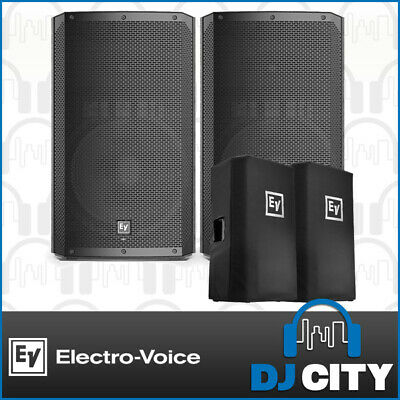 Electro Voice ELX200 15P Powered 15 Inch Speaker Pair with Speaker Covers 1200W