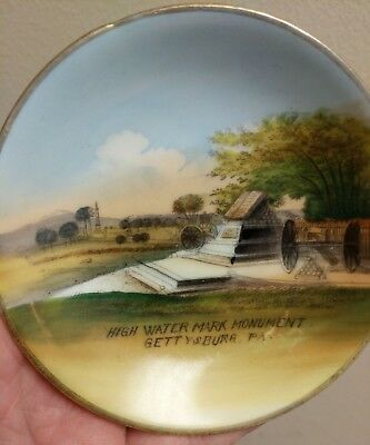 Americana SOUVENIR Pin Dish Plate ~Gettysburg, PA ~ WHEELOCK GERMANY Antique