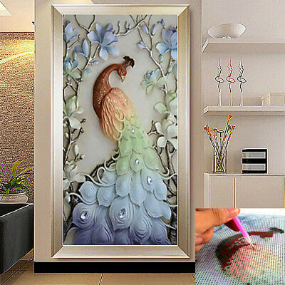 5D Diamond Embroidery Peacock Painting Art Cross Stitch Craft Kit DIY Home Decor