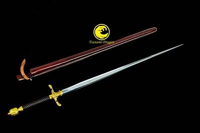 Game of Thrones Handmade Battle Ready Folded Steel Needle Sword  Sharp In Stock