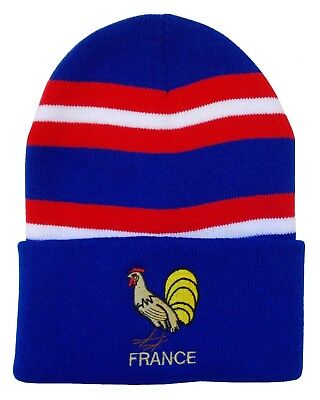France Rugby Bronx Beanie Hat - Made in the UK