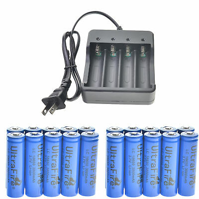 UltraFire 3000mAh 18650 Battery Li-ion 3.7V Rechargeable Batteries For Torch LED