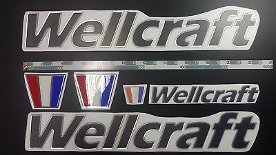 "WELLCRAFT boat Emblem 22"" black + FREE FAST delivery DHL express"