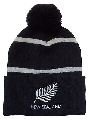 New Zealand Rugby Bobble Hat - Made in the UK