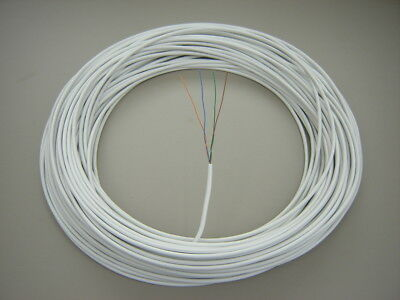 BT MANUFACTURED 25m 2 Pair CW1308 White Telephone Extension Cable SOLID COPPER