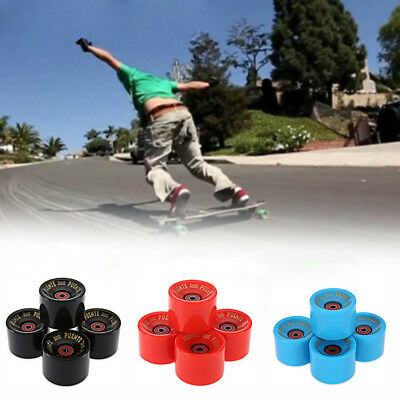 4 PCS/set 70 x 51mm 83A Roll Wheels for Longboard Skateboard with ABCE 9 Bearing