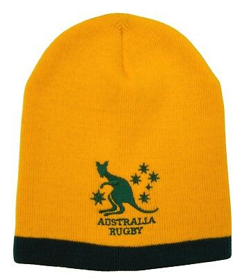 Australia Rugby Beanie Hat - Made in the UK