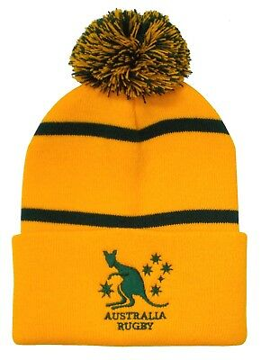 Australia Rugby Bobble Hat - Made in the UK