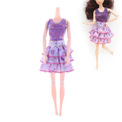 2Pcs Handmade Fashion Doll Party Dresses Clothes For Barbie Dolls Girls Gift HT