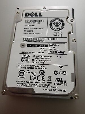 DELL 600GB 15K RPM SAS 6Gbps 2.5 INCH ENTERPRISE CLASS HARD DISK DRIVE HDD