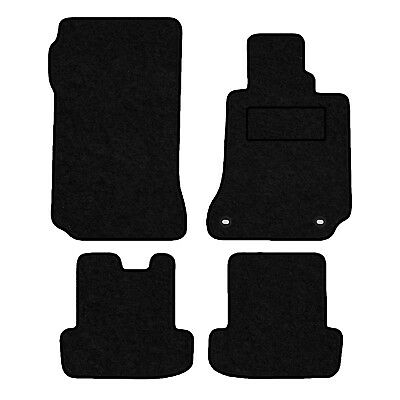 Tailored Velour Floor Mats For Mercedes C Class Coupe 2011> Manual Version