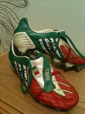 rugby world cup mirko bergamasco match worn shoes coupe du monde hand signed