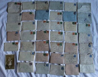Antique Vintage photo ephemera letters paperwork  x 42 wartime letters Aus