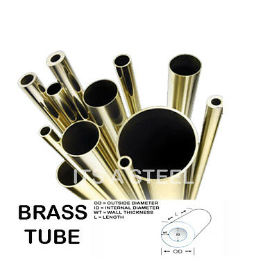 Brass Tube 1.6mm/2mm/3mm/6mm/8MM/10m BRASS TUBE/PIPE PLUMBING/WATER/GAS/DIY and