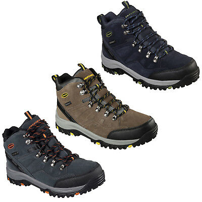40013050e27 NIB MENS SKECHERS Trego Marso Waterproof Memory Foam Hiking Boots ...
