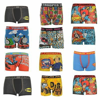 Boxer Shorts Infant Boys Thomas Fireman Sam Spiderman DC Comics Star Wars Animal