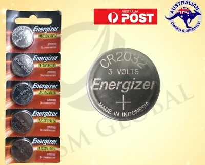 5 X ENERGIZER BUTTON COIN CELL CR2032 CR 2032 3v Lithium Batteries EXP 03/21