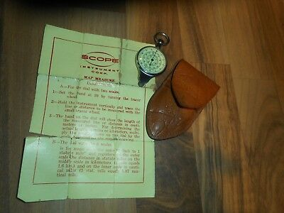 Vintage German Opisometer Map Measuring Tool Scope Instrument Co. FREE SHIP