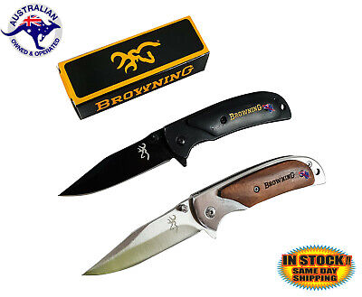 Pocket Folding Opening Knife Camping Hunting Fishing Stainless Steel Blade Tool