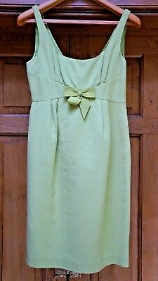 Lime Green Tailored '50's' Style Shift Dress By Moschino Cheap And Chic -Size 12