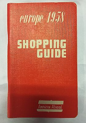 Vintage Shopping Guide of Europe 1958 American Abroad Ruth Imler France Greece